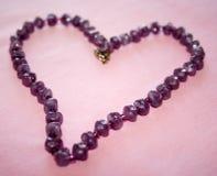 Corazón Amethyst Imagen de archivo libre de regalías