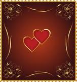 Corazón, amor, el día de tarjeta del día de San Valentín Imágenes de archivo libres de regalías
