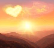 Corazón, amor y día de tarjetas del día de San Valentín Fotografía de archivo libre de regalías