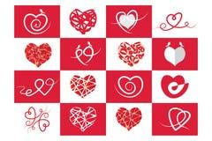 Corazón, amor y Valentine& rojos x27; día de s ilustración del vector
