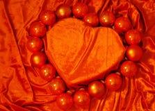 Corazón anaranjado del terciopelo Fotos de archivo libres de regalías