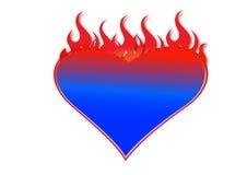 Corazón ardiente Fotos de archivo libres de regalías