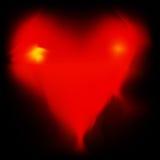 Corazón ardiente de la tarjeta del día de San Valentín Fotos de archivo libres de regalías