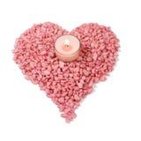 Corazón ardiente - símbolo del amor Foto de archivo