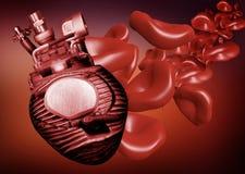 Corazón artificial fotografía de archivo
