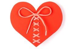 Corazón atado aislado Foto de archivo libre de regalías