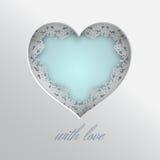 Corazón atado con amor Fotografía de archivo