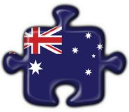 Corazón australiano del rompecabezas del botón Ilustración del Vector