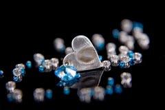 Corazón azul Fotos de archivo
