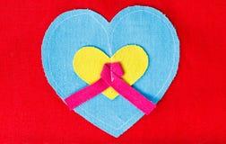 Corazón azul Imagen de archivo libre de regalías