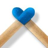 Corazón azul Imagen de archivo