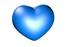 Corazón azul grande Fotografía de archivo libre de regalías