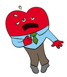 Corazón bajo ataque ilustración del vector