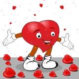 Corazón bajo la forma de carácter divertido. Imagen de archivo libre de regalías