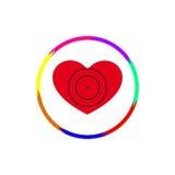 Corazón bajo vista Imagen de archivo libre de regalías