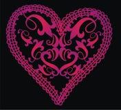corazón barroco Imagen de archivo libre de regalías