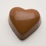 Corazón belga de la tarjeta del día de San Valentín del chocolate Fotos de archivo