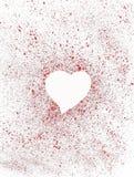 Corazón blanco. Foto de archivo