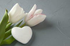 Corazón blanco Fotografía de archivo