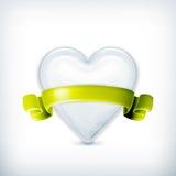 Corazón blanco, concesión Fotografía de archivo libre de regalías