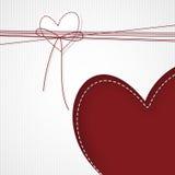 Corazón blanco, corazón rojo Foto de archivo