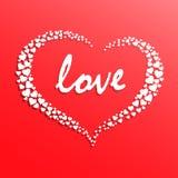 Corazón blanco creativo Foto de archivo libre de regalías