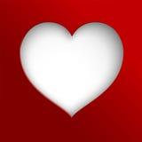 Corazón blanco de papel de Cuted Fotos de archivo libres de regalías