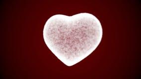 Corazón blanco de pulsación stock de ilustración