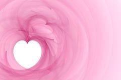 Corazón blanco en fondo rosado stock de ilustración