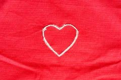 Corazón bordado Imagen de archivo