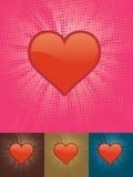 Corazón brillante Imágenes de archivo libres de regalías