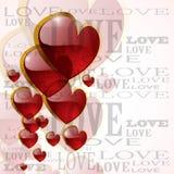 Corazón brillante abstracto en blanco Imagenes de archivo