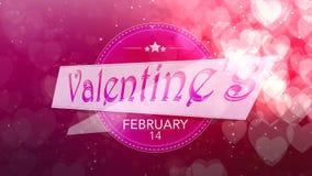 Corazón brillante Día del `s de la tarjeta del día de San Valentín Fondo