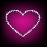 Corazón brillante del diamante Imagen de archivo libre de regalías