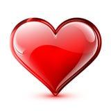 Corazón brillante del vector Imagen de archivo libre de regalías