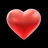 Corazón brillante rojo Fotografía de archivo libre de regalías