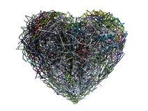 Corazón caótico Imagen de archivo libre de regalías