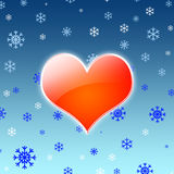 Corazón caliente Foto de archivo