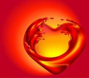 Corazón caliente Foto de archivo libre de regalías