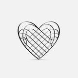 Corazón caligráfico del vector Imágenes de archivo libres de regalías