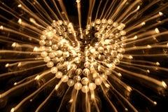 Corazón candlestick2 Fotografía de archivo libre de regalías