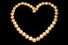 Corazón candlestick3 Imágenes de archivo libres de regalías
