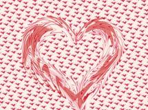 Corazón caprichoso de la tarjeta del día de San Valentín Imagenes de archivo
