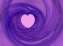 Corazón cariñoso abstracto Fotos de archivo