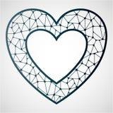 Corazón a cielo abierto Plantilla de corte del laser ilustración del vector