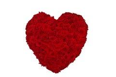 Corazón color de rosa del día de tarjetas del día de San Valentín Fotografía de archivo