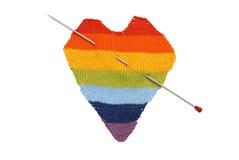 Corazón coloreado Foto de archivo libre de regalías