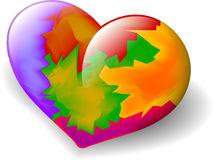 Corazón colorido Imágenes de archivo libres de regalías