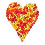 Corazón colorido de los caramelos fotografía de archivo