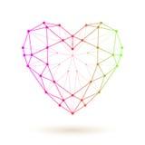 Corazón colorido de Wireframe libre illustration
